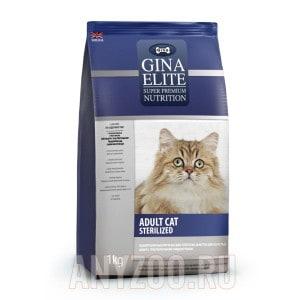 Купить Gina Elite Cat Sterilized Джина Элит сухой корм для стерилизованных кошек с курицей  UK