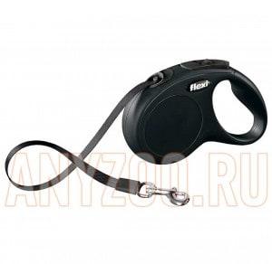 фото Flexi New Classic Рулетка Флекси Новая Классика S ремень, для собак до 15 кг 5м