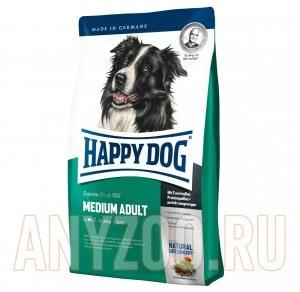 Купить Happy Dog Medium Adult Хэппи Дог Сухой корм для взрослых собак средних пород
