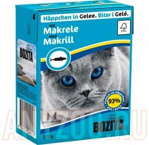 Купить Bozita Tetra Recart Бозита Тетра Рекарт кон.для кошек Кусочки в желе со Скумбрией