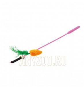 фото VIPet Дразнилка-удочка с игрушкой морковь