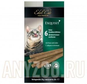 фото Edel Cat- Эдель Кэт Лакомство для кошек Колбаски заяц/печень