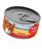 Родные корма Консервы для кошек Ягненок по-княжески