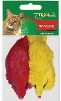 фото Triol Набор для кошек Мышь цветная 10см