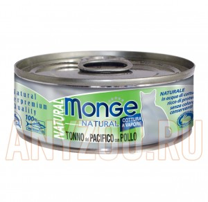 Купить Monge Natural Tonno del Pacifico con Pollo Монж консервы для кошек Тунец с курицей