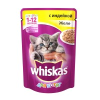 фото Whiskas Вискас пауч для котят в желе Индейка