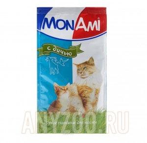 МонАми Сухой корм для кошек Дичь