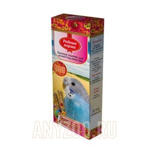 Родные корма зерновая палочка для попугаев с витаминами и минералами