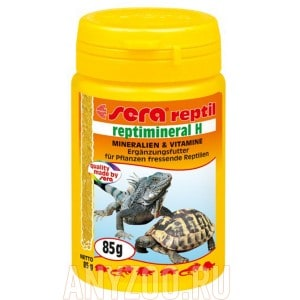 Sera Reptimineral H минералальная подкормка для растительноядных рептилий