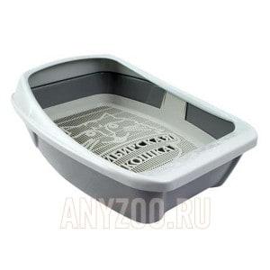 Сибирская Кошка Евро туалет для кошек глубокий с сеткой и бортиком