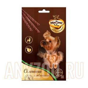 Купить Мнямс Деликатес лакомые палочки для собак с олениной и яблоком