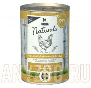Купить Bozita Naturals Chicken консервы для собак мясной паштет с Курицей