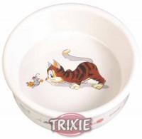 "фото Trixie Миска для кошек ""Кошка-мышка"", керамика 0,2л*ф11,5см"