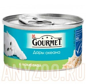 фото Gourmet Дары океана консервы для кошек Камбала