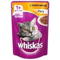фото Whiskas - Вискас пауч для кошек Рагу с телятиной