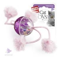 фото GiGwi Игрушка для кошек Мячик пластмассовый с погремушкой