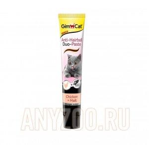 """фото GimCat Джимпет Паста """"Дуо"""" Курица+Солод для выведения шерсти для кошек"""