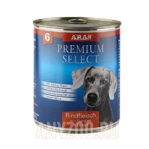 фото Aras Арас Консервы для собак №6 - Говядина, овощи, кунжут