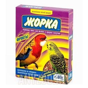 Жорка Корм для мелких и средних попугаев Фрукты