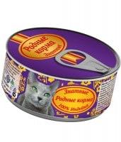 Родные корма Знатные Консервы для кошек 100% Индейка