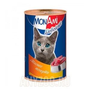 МонАми Delicious Консервы для кошек Паштет мясное ассорти