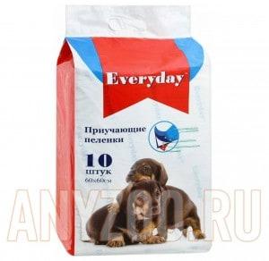 фото EveryDay впитывающие пеленки для животных, гелевые 60*60 см