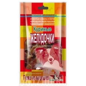 Грин Кьюзин лакомство для собак сушеные куриные желудочки