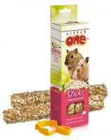 фото Little One Палочки для хомяков, мышей и песчанок с воздушным рисом и орехами