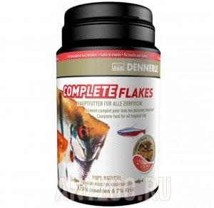 фото Dennerle Complete Flakes Основной корм в форме хлопьев для аквариумных рыб