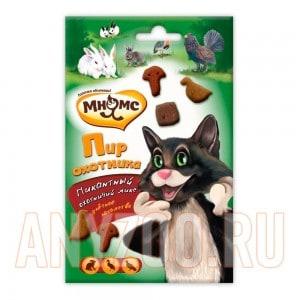 Купить Мнямс лакомство для кошек Мясной пир охотника утка,кролик,дичь