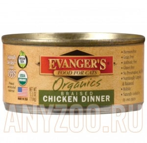 Evanger`s Organics Braised Chicken Dinner