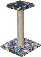 Зооник Когтеточка на подставке с полочкой 54 см (цветной мех) 340*340*540