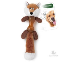 фото GiGwi 75280 Игрушка для собак Лиса с гантелей с пищалкой
