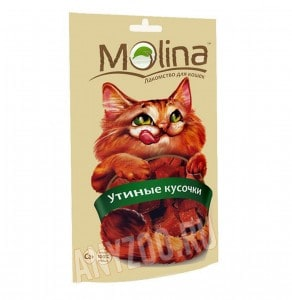 фото Molina Молина Лакомство для кошек Утиные кусочки