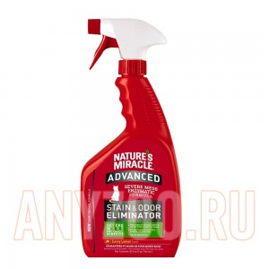 Купить 8in1 NM уничтожитель пятен и запахов Advanced с усиленной формулой для кошек с ароматом лимон, спрей