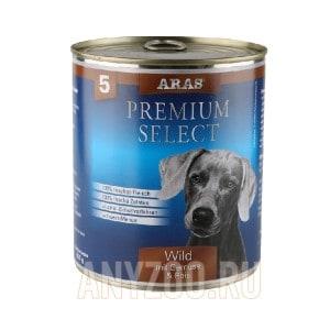 фото Aras Арас Консервы для собак №5 - Дичь, овощи и рис
