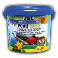 фото JBL Pond Vario Корм для прудовых рыб, состоящий из смеси хлопьев, палочек и рачков