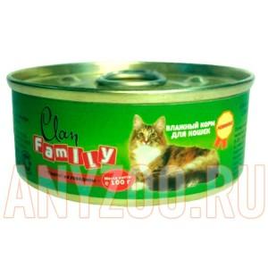 фото Clan Family Консервы для взрослых кошек паштет из говядины №20