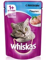 фото Whiskas Вискас пауч для взрослых кошек Паштет с лососем