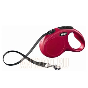 фото Flexi New Classic Рулетка Флекси Новая Классика M-L ремень, для собак до 50кг 5м