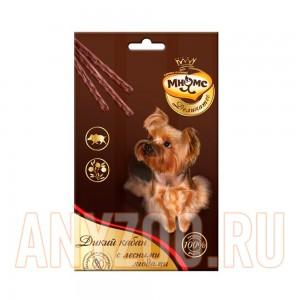 Мнямс Деликатес лакомые палочки для собак с мясом дикого кабана и лесными ягодами