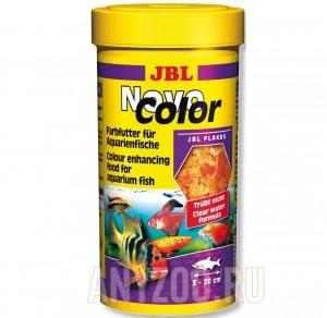 фото JBL NovoColor Основной корм в форме хлопьев для особенно яркой окраски рыб