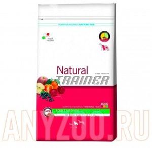 Купить Trainer Natural Adult Medium Beef Riso Genseng Сухой корм для собак средних пород Говядина рис