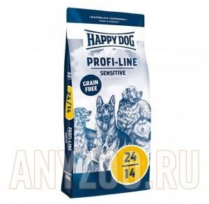 Купить Happy Dog Profi-Line Sensitive 24/14 сухой бззерновой корм для собак с чувствительным пищеварением
