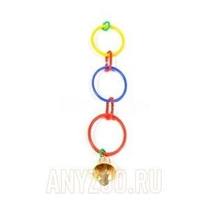 Дарелл 5031 Игрушка для попугая - кольца с колокольчиком
