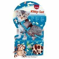 фото Trixiе 4190 шлейка д/котят с 2-мя игрушками нейлон с рисунком