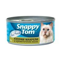 Snappy Tom консервы для кошек Кусочки макрели в креветочном желе