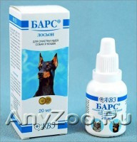 Барс Лосьон для чистки ушей кошек и собак
