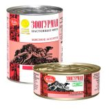 Зоогурман консервы для собак Мясное ассорти говядина