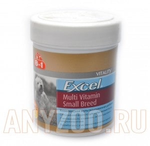 8 in 1 Excel Daily Multi-Vitamin for Small Breed Dogs